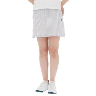 アドミラル Admiral レディース サッカーストライプ ストレッチ インナーパンツ付き スカート ADLA140 2021年モデル グレー(19)