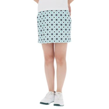 アドミラル Admiral レディース 総柄 タイルプリント ストレッチ ペチパンツ付き スカート ADLA152 2021年モデル ブルー(34)