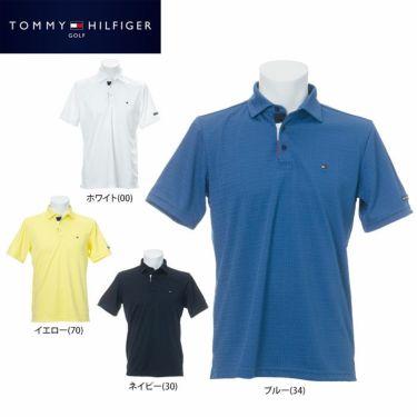 トミー ヒルフィガー ゴルフ メンズ ロゴ刺繍 総柄 ジャガード 半袖 ポロシャツ THMA105 2021年モデル 詳細1