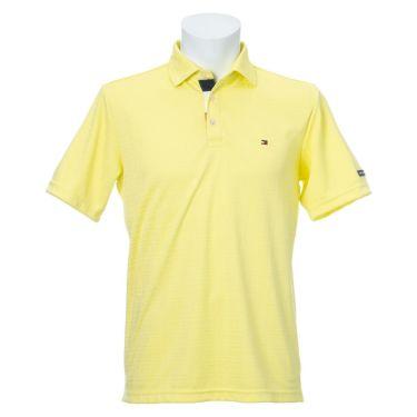 トミー ヒルフィガー ゴルフ メンズ ロゴ刺繍 総柄 ジャガード 半袖 ポロシャツ THMA105 2021年モデル ホワイト(00)