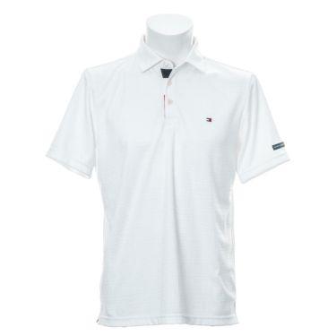 トミー ヒルフィガー ゴルフ メンズ ロゴ刺繍 総柄 ジャガード 半袖 ポロシャツ THMA105 2021年モデル ネイビー(30)
