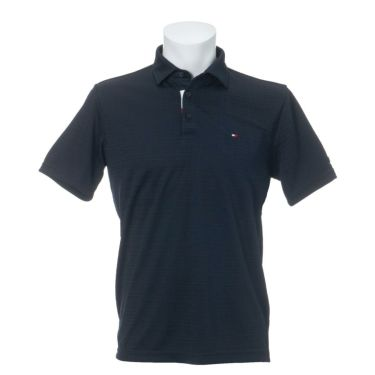トミー ヒルフィガー ゴルフ メンズ ロゴ刺繍 総柄 ジャガード 半袖 ポロシャツ THMA105 2021年モデル 詳細2