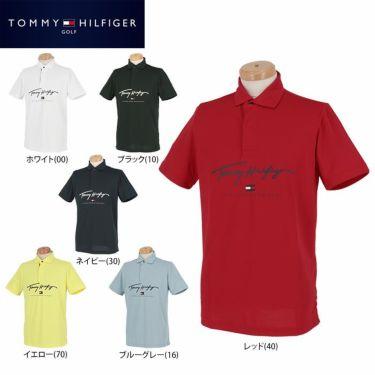 トミー ヒルフィガー ゴルフ メンズ ロゴプリント 半袖 ポロシャツ THMA119 2021年モデル 詳細1