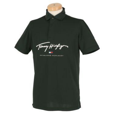 トミー ヒルフィガー ゴルフ メンズ ロゴプリント 半袖 ポロシャツ THMA119 2021年モデル ネイビー(30)