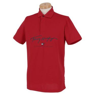 トミー ヒルフィガー ゴルフ メンズ ロゴプリント 半袖 ポロシャツ THMA119 2021年モデル ホワイト(00)