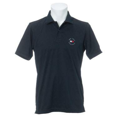 トミー ヒルフィガー ゴルフ メンズ 総柄 ジャガード ロゴ刺繍 半袖 ポロシャツ THMA136 2021年モデル ネイビー(30)