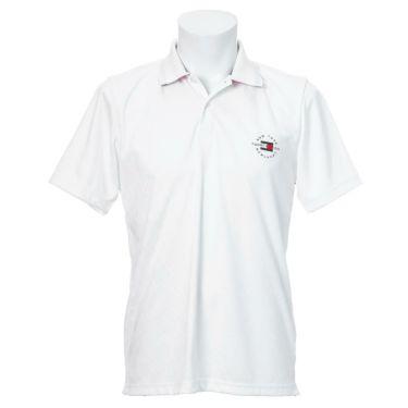トミー ヒルフィガー ゴルフ メンズ 総柄 ジャガード ロゴ刺繍 半袖 ポロシャツ THMA136 2021年モデル ホワイト(00)