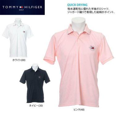 トミー ヒルフィガー ゴルフ メンズ 総柄 ジャガード ロゴ刺繍 半袖 ポロシャツ THMA136 2021年モデル 詳細2