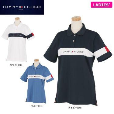 トミー ヒルフィガー ゴルフ レディース 鹿の子 ロゴ刺繍 配色切替 半袖 ポロシャツ THLA105 2021年モデル 詳細1