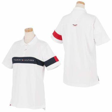 トミー ヒルフィガー ゴルフ レディース 鹿の子 ロゴ刺繍 配色切替 半袖 ポロシャツ THLA105 2021年モデル 詳細3