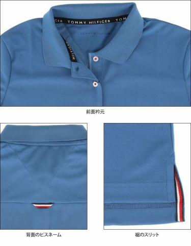 トミー ヒルフィガー ゴルフ レディース 鹿の子 ロゴ刺繍 配色切替 半袖 ポロシャツ THLA105 2021年モデル 詳細4