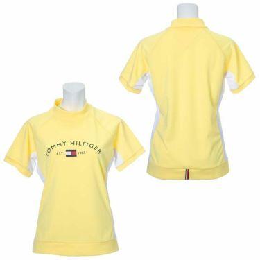 トミー ヒルフィガー ゴルフ レディース ロゴプリント 鹿の子 生地切替 半袖 モックネックシャツ THLA119 2021年モデル 詳細3