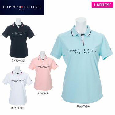 トミー ヒルフィガー ゴルフ レディース フロッキープリント 背面ライン 半袖 ポロシャツ THLA130 2021年モデル 詳細1