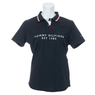 トミー ヒルフィガー ゴルフ レディース フロッキープリント 背面ライン 半袖 ポロシャツ THLA130 2021年モデル 詳細2