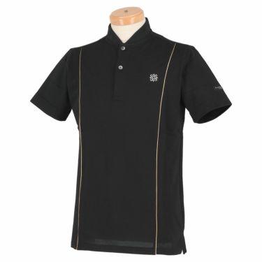 【ssプロパー】△セントアンドリュース メンズ 鹿の子 半袖 ベースボールカラー ポロシャツ 042-1160261 ゴルフウェア [2021年春夏モデル] ブラック(010)