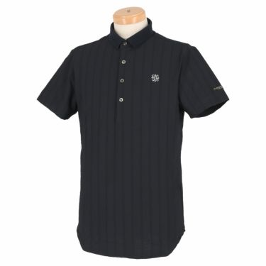 セントアンドリュース St ANDREWS メンズ サッカーストライプ 半袖 ポロシャツ 042-1160555 2021年モデル ブラック(010)