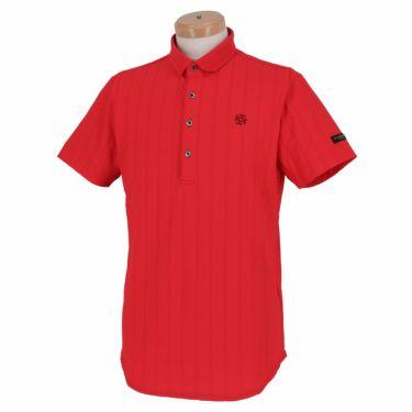 【ssプロパー】△セントアンドリュース メンズ サッカーストライプ 半袖 ポロシャツ 042-1160555 ゴルフウェア [2021年春夏モデル] レッド(100)