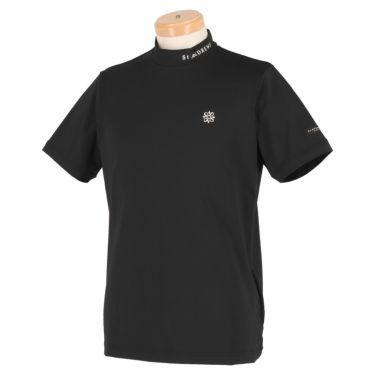 セントアンドリュース St ANDREWS メンズ ロゴプリント 天竺 半袖 ハイネックシャツ 042-1167351 2021年モデル ブラック(010)