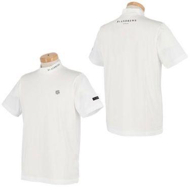 セントアンドリュース St ANDREWS メンズ ロゴプリント 天竺 半袖 ハイネックシャツ 042-1167351 2021年モデル 詳細3