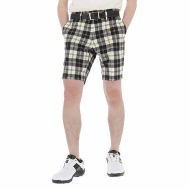 【ssプロパー】△セントアンドリュース メンズ チェック柄 ストレッチ ショートパンツ 042-1132553 ゴルフウェア [2021年春夏モデル] ホワイト(030)