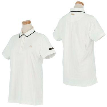 セントアンドリュース St ANDREWS レディース ロゴ刺繍 サッカーストライプ 半袖 ポロシャツ 043-1160556 2021年モデル 詳細3
