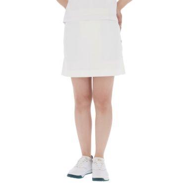 【ssプロパー】△セントアンドリュース レディース ドビーストレッチ プリーツ スカート 043-1134262 ゴルフウェア [2021年春夏モデル] ホワイト(030)