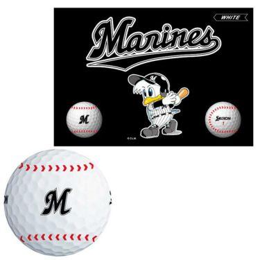 スリクソン SRIXON X2 エックスツー パ・リーグ コラボレーション 千葉ロッテマリーンズ ゴルフボール 1箱(6球入り) 2021年モデル マリーンズ(ホワイト)