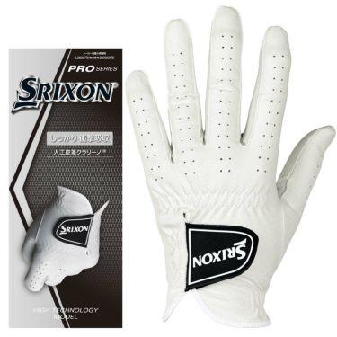 スリクソン SRIXON プロシリーズ 全天候厚手タイプ メンズ ゴルフグローブ GGG-S029 ホワイト 詳細1
