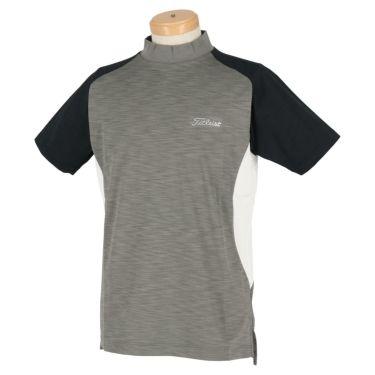タイトリスト Titleist メンズ カラーブロック 半袖 モックネックシャツ TWMC2003 2020年モデル チャコール(CL)