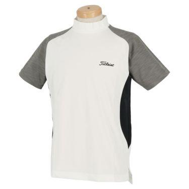 タイトリスト Titleist メンズ カラーブロック 半袖 モックネックシャツ TWMC2003 2020年モデル オフホワイト(OW)