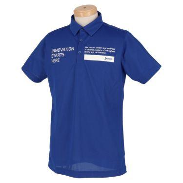 スリクソン SRIXON メンズ ロゴプリント 半袖 ポロシャツ RGMRJA01 2021年モデル ブルー(BL00)