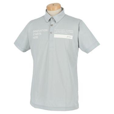 スリクソン SRIXON メンズ ロゴプリント 半袖 ポロシャツ RGMRJA01 2021年モデル グレー(GY00)