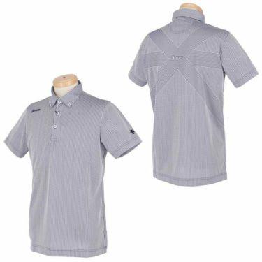 スリクソン SRIXON メンズ ストライプ柄 バッククロス 半袖 ボタンダウン ポロシャツ RGMRJA13 2021年モデル 詳細3