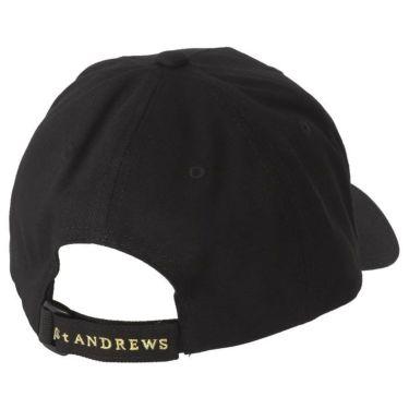 セントアンドリュース St ANDREWS ユニセックス ロゴ箔プリント コットンツイル キャップ 042-1987261 010 ブラック 2021年モデル 詳細1