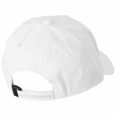 セントアンドリュース St ANDREWS ユニセックス ロゴ箔プリント コットンツイル キャップ 042-1987261 030 ホワイト 2021年モデル 詳細1