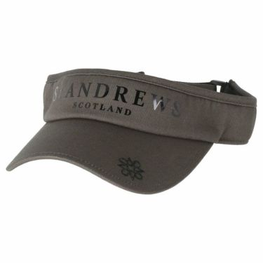 セントアンドリュース St ANDREWS ユニセックス ロゴ箔プリント コットンツイル サンバイザー 042-1987262 021 グレー 2021年モデル グレー(021)