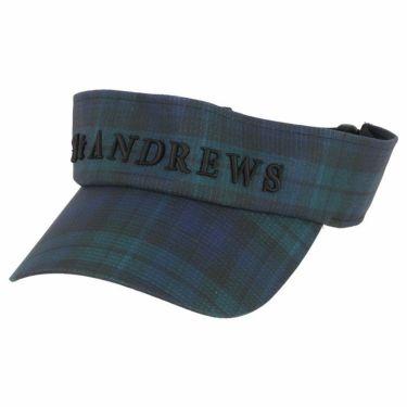 セントアンドリュース St ANDREWS ユニセックス 立体ロゴ刺繍 チェック柄 サンバイザー 042-1187555 140 グリーン 2021年モデル グリーン(140)