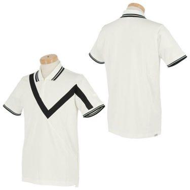 【ssプロパー】△ブラック&ホワイト メンズ ホワイトライン ウール混 半袖 ハーフジップ ポロシャツ BGS9401XO ゴルフウェア [2021年春夏モデル] 詳細3