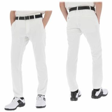 【ssプロパー】△ブラック&ホワイト メンズ ホワイトライン スウェット テーパード ロングパンツ BGS5001UD ゴルフウェア [2021年春夏モデル] [裾上げ対応1●] 詳細3