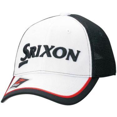 【ss特価】△ダンロップ SRIXON スリクソン メンズ オートフォーカス メッシュ キャップ SMH7138 ホワイトブラック ゴルフウェア 特価 ホワイトブラック