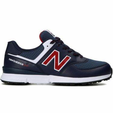 ニューバランスゴルフ ユニセックス スパイクレス ゴルフシューズ UGS574 UGS574NT NAVY TRICOLOR 2021年モデル 詳細1