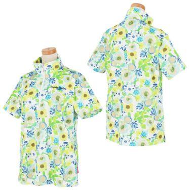 マリクレール marie claire レディース ロゴ刺繍 総柄 フラワープリント 半袖 ハーフジップシャツ 711-620 2021年モデル 詳細3