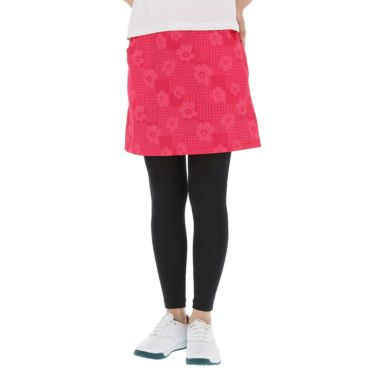 マリクレール marie claire レディース 総柄プリント ストレッチ レギンス付き スカート 711-310 2021年モデル レッド(RD)