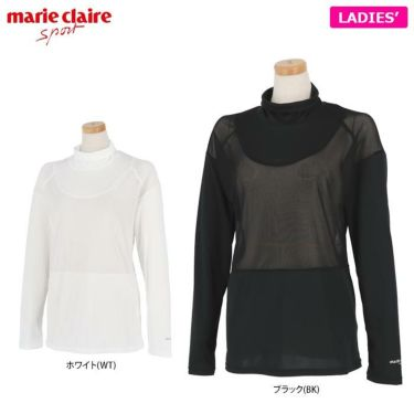 マリクレール marie claire レディース UV メッシュ切替 長袖 ハイネック インナーシャツ 711-907 2021年モデル 詳細1
