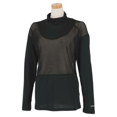 マリクレール marie claire レディース UV メッシュ切替 長袖 ハイネック インナーシャツ 711-907 2021年モデル ブラック(BK)