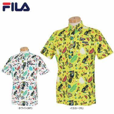 フィラ FILA メンズ 総柄 半袖 ポロシャツ 741-609 2021年モデル 詳細1