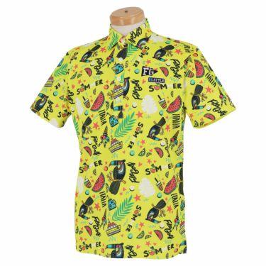 フィラ FILA メンズ 総柄 半袖 ポロシャツ 741-609 2021年モデル イエロー(YL)