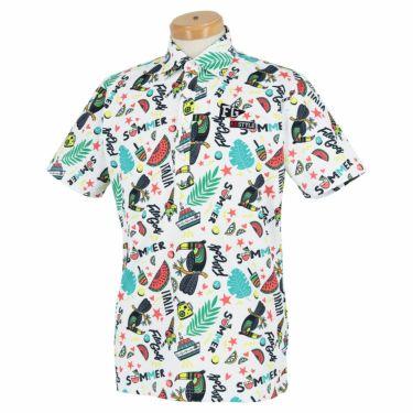フィラ FILA メンズ 総柄 半袖 ポロシャツ 741-609 2021年モデル ホワイト(WT)