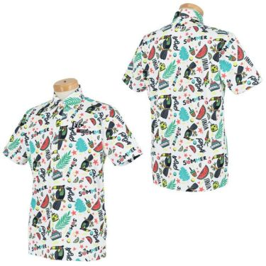 フィラ FILA メンズ 総柄 半袖 ポロシャツ 741-609 2021年モデル 詳細3