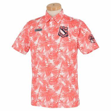 フィラ FILA メンズ ボタニカル柄 半袖 ポロシャツ 741-616 2021年モデル ピンク(PK)